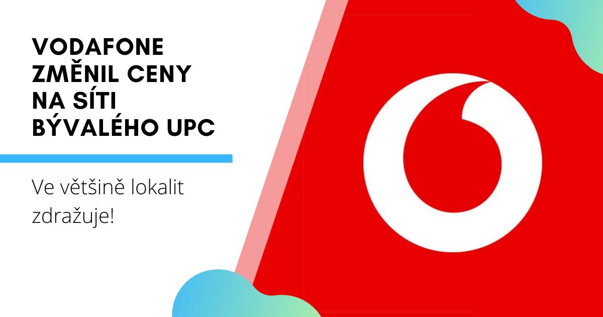 Vodafone změnil ceny na síti bývalého UPC