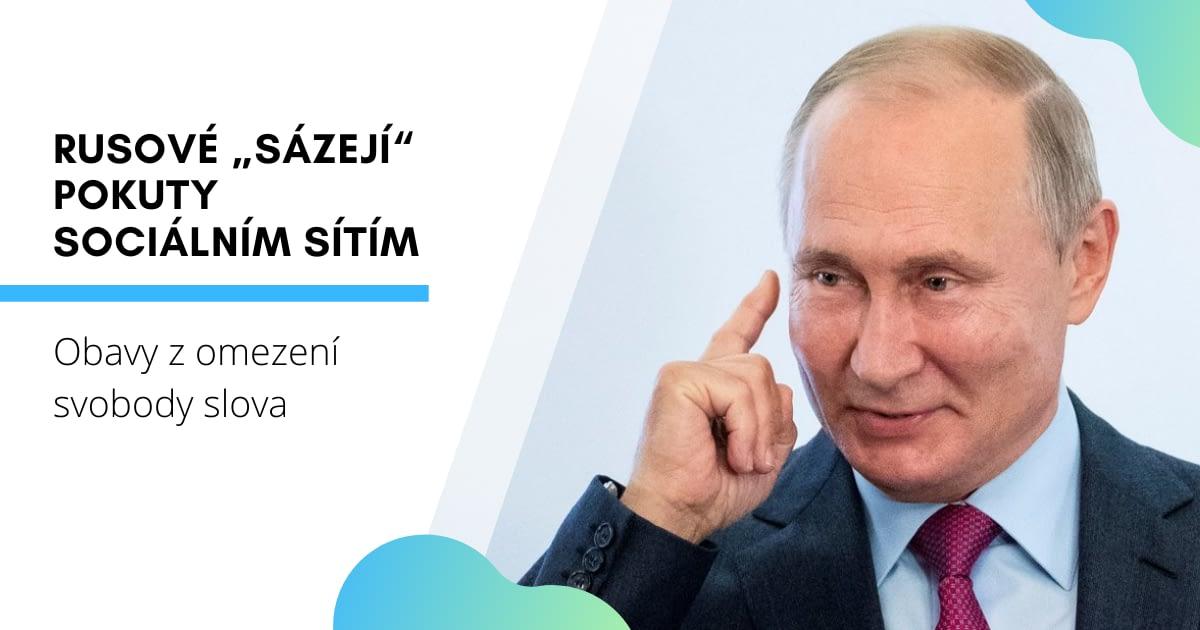"""Rusové """"sázejí"""" pokuty sociálním sítím"""