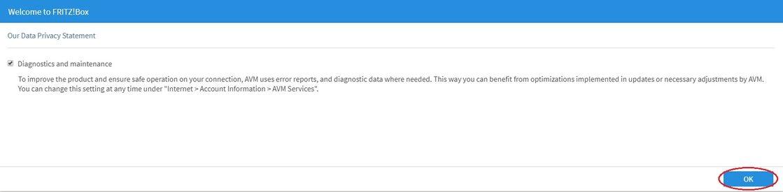 Odesílání diagnostických dat modemu FRITZ!Box 7530 a 7590